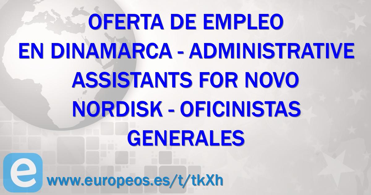 Trabajos en HOVEDSTADEN (Dinamarca) de Oficinistas generales