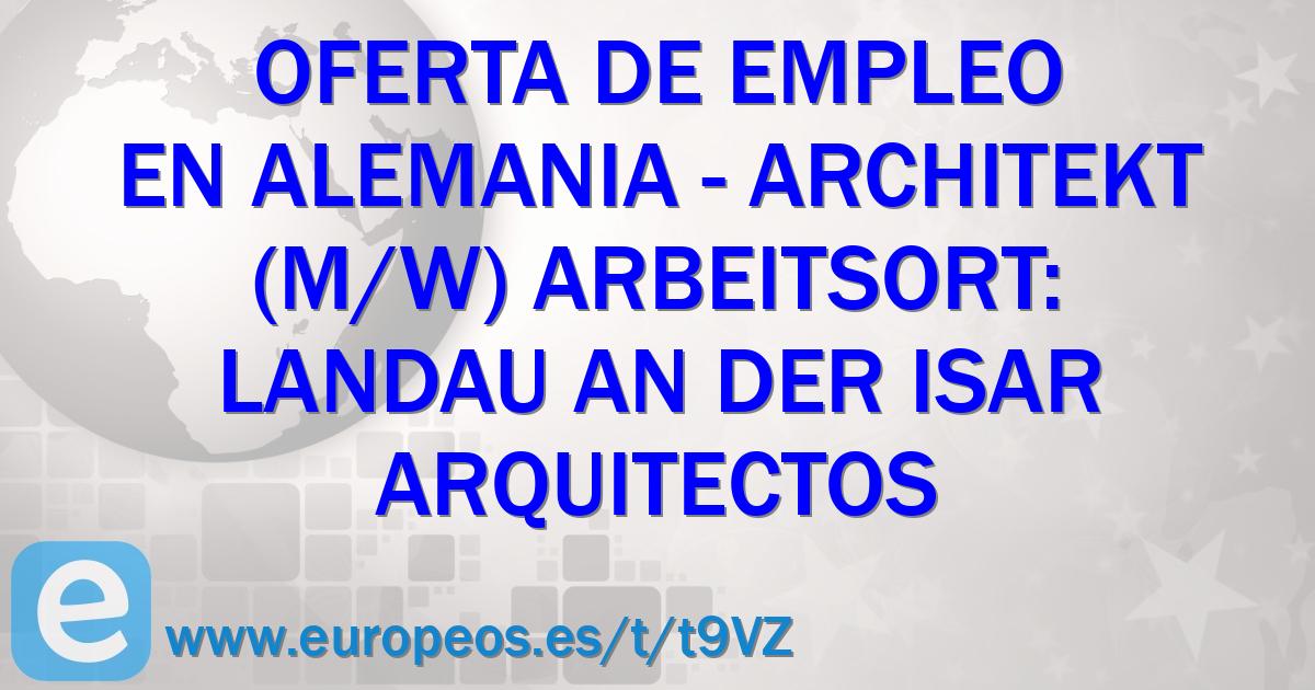 Architekt Landau architekt m w arbeitsort landau an der isar dingolfing landau