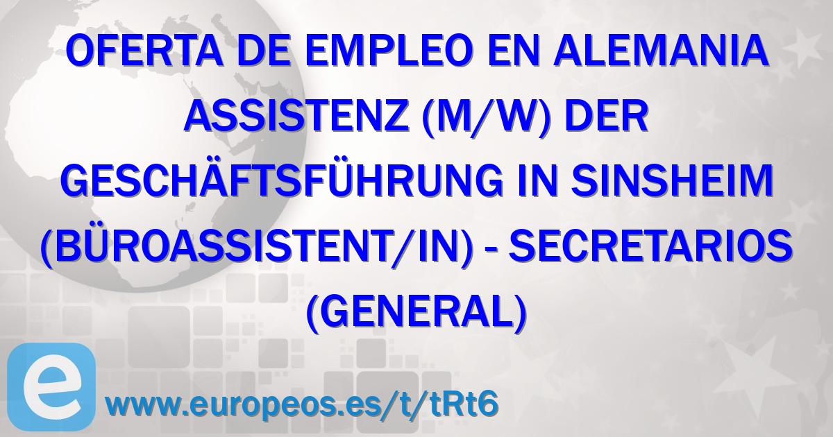 Assistenz (m/w) der Geschäftsführung in Sinsheim (Büroassistent/in)
