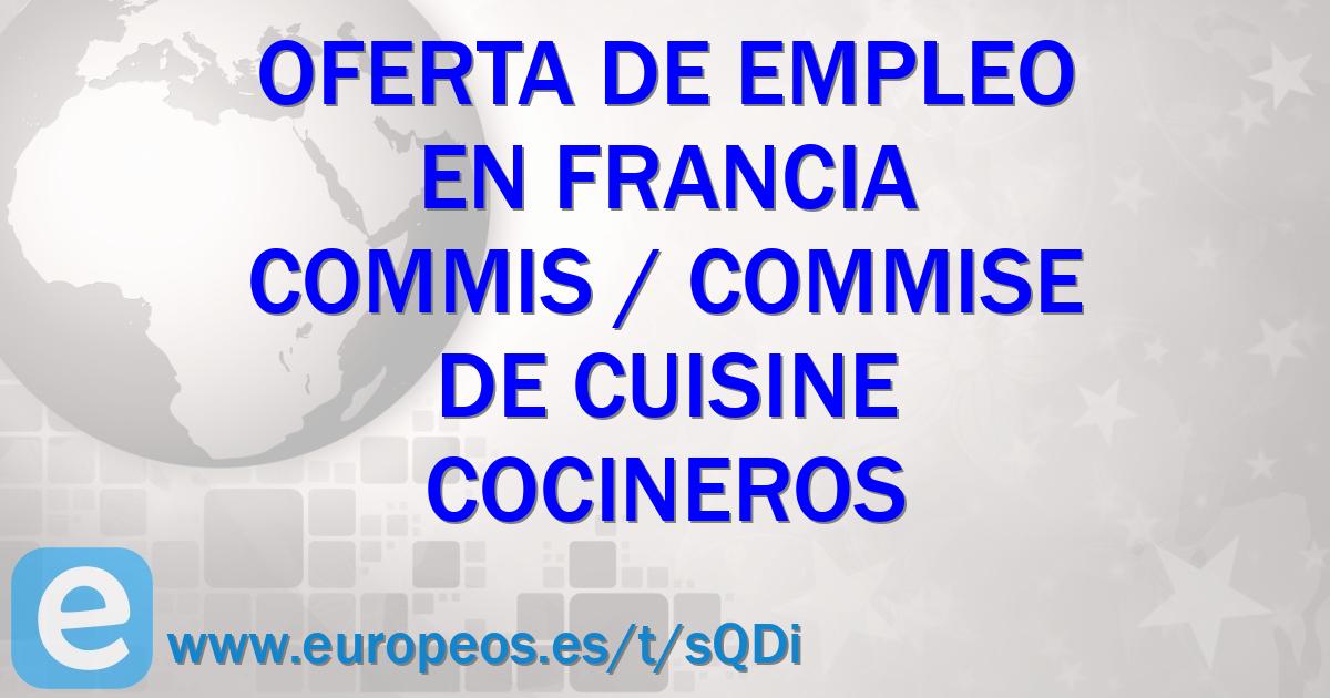 Vacante de cocineros en bretagne francia 12 de enero de for Annonce commis de cuisine