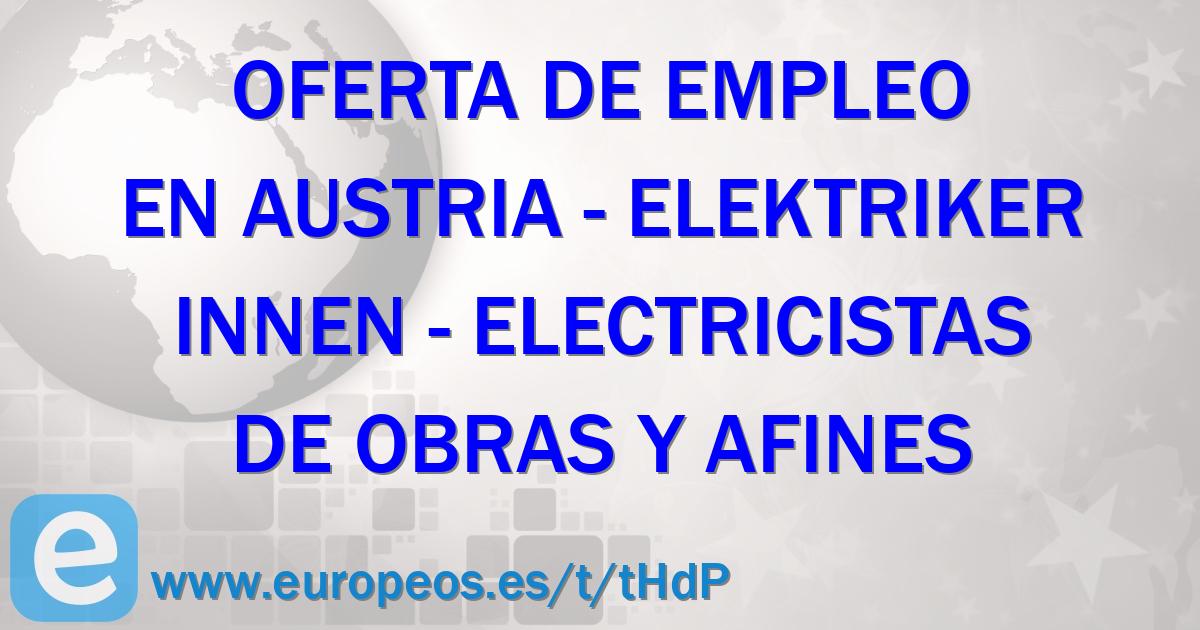 Elektriker/innen. Austria (16 de Agosto de 2018)