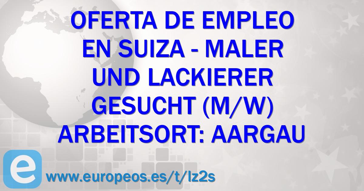 Empleos de pintores y empapeladores en suiza nordwestschweiz for Trabajo para pintores
