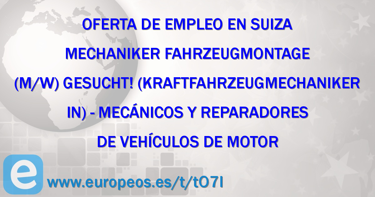 Mechaniker Fahrzeugmontage (m/w) gesucht! (Kraftfahrzeugmechaniker/in)