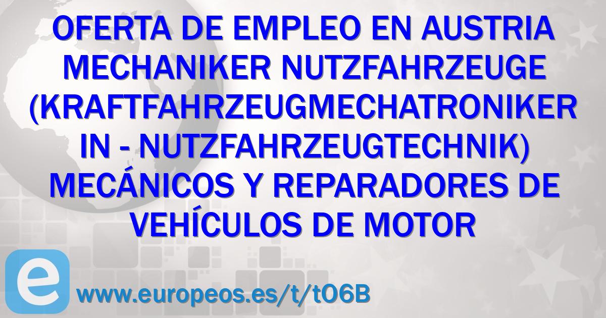 Mechaniker Nutzfahrzeuge (Kraftfahrzeugmechatroniker/in ...