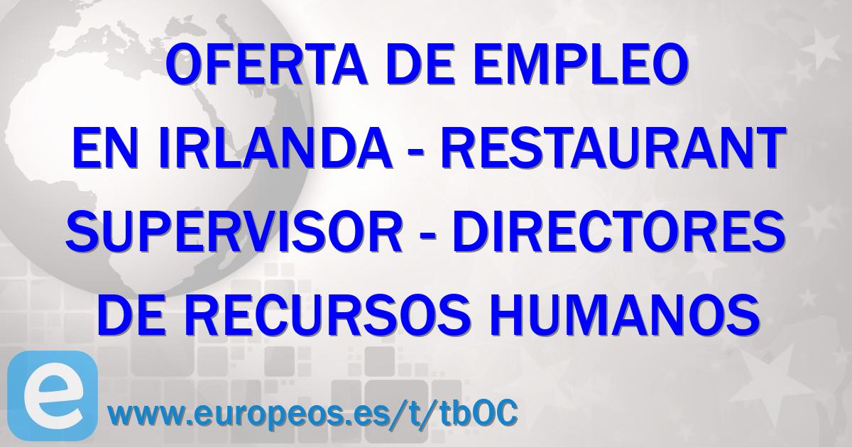 Oferta de trabajo de Directores de recursos humanos en IRELAND ...