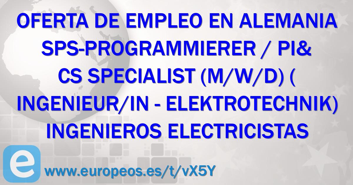 Contrato De Ingenieros Electricistas En Unna Alemania